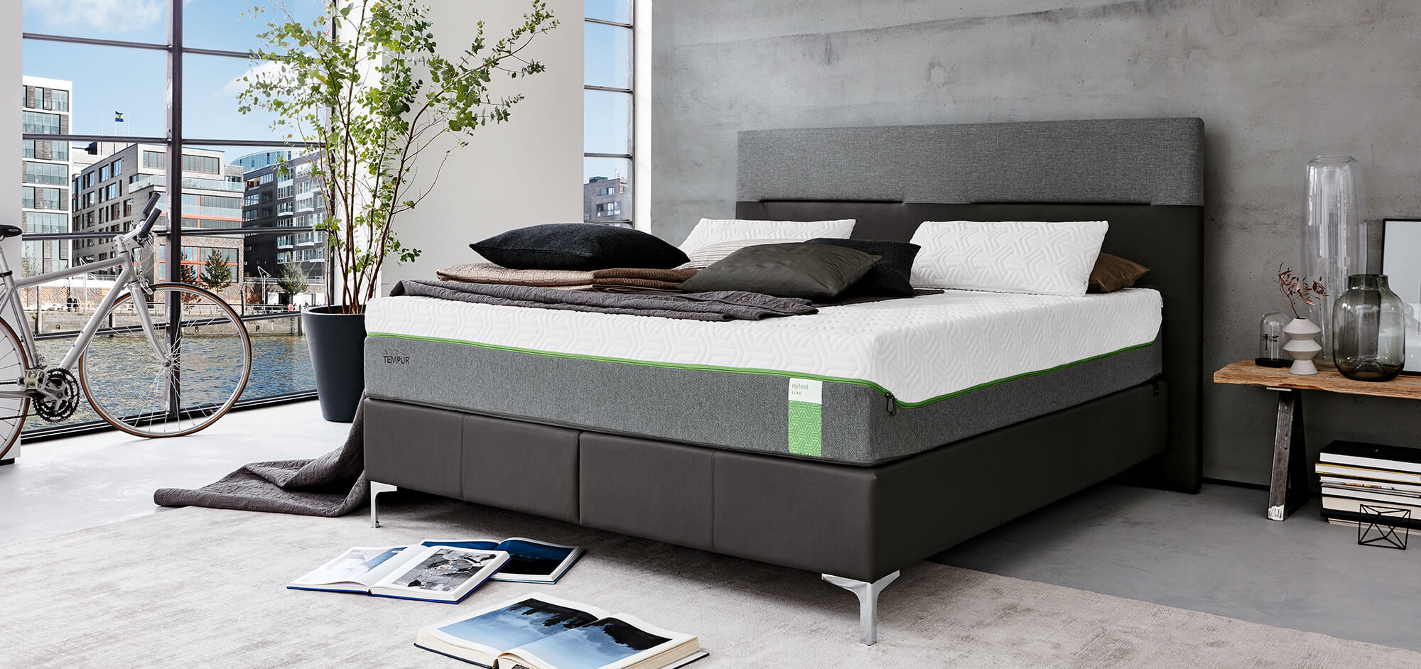 tempur boxspring th nig ag bettenhaus st gallen. Black Bedroom Furniture Sets. Home Design Ideas