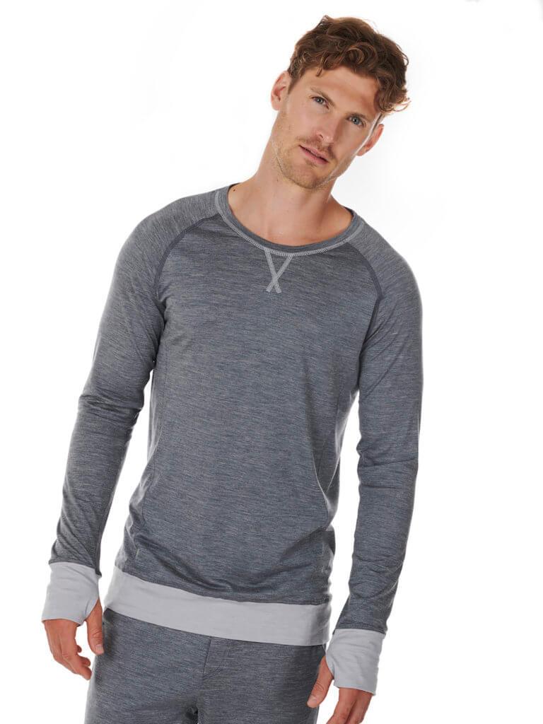 Dagsmejan Men's Stay Warm Long Sleeve Dark Gray