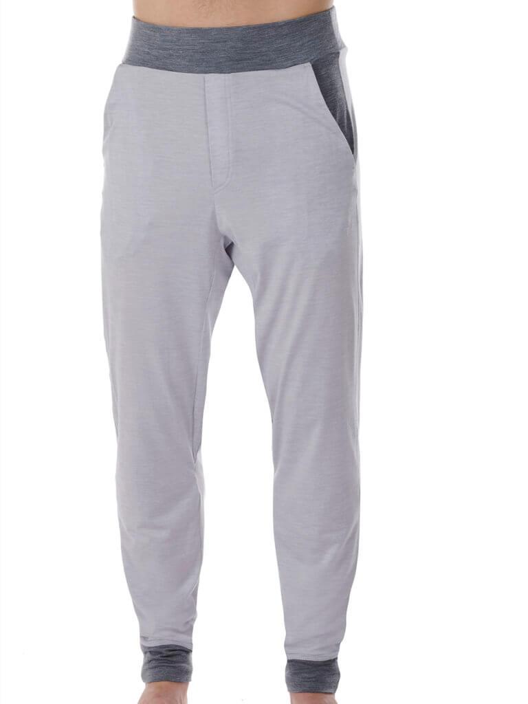 Dagsmejan Men's Stay Warm Sleep Pants Light Grey