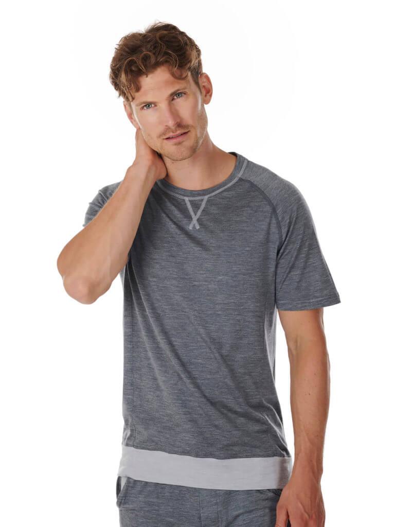 Dagsmejan Men's Stay Warm Sleep T-Shirt Dark Grey