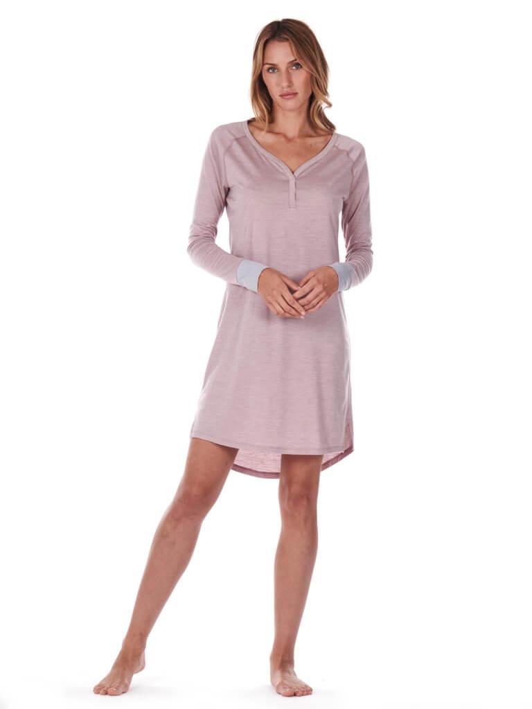 Dagsmejan Women's Stay Warm Sleep Dress Dusty Pink