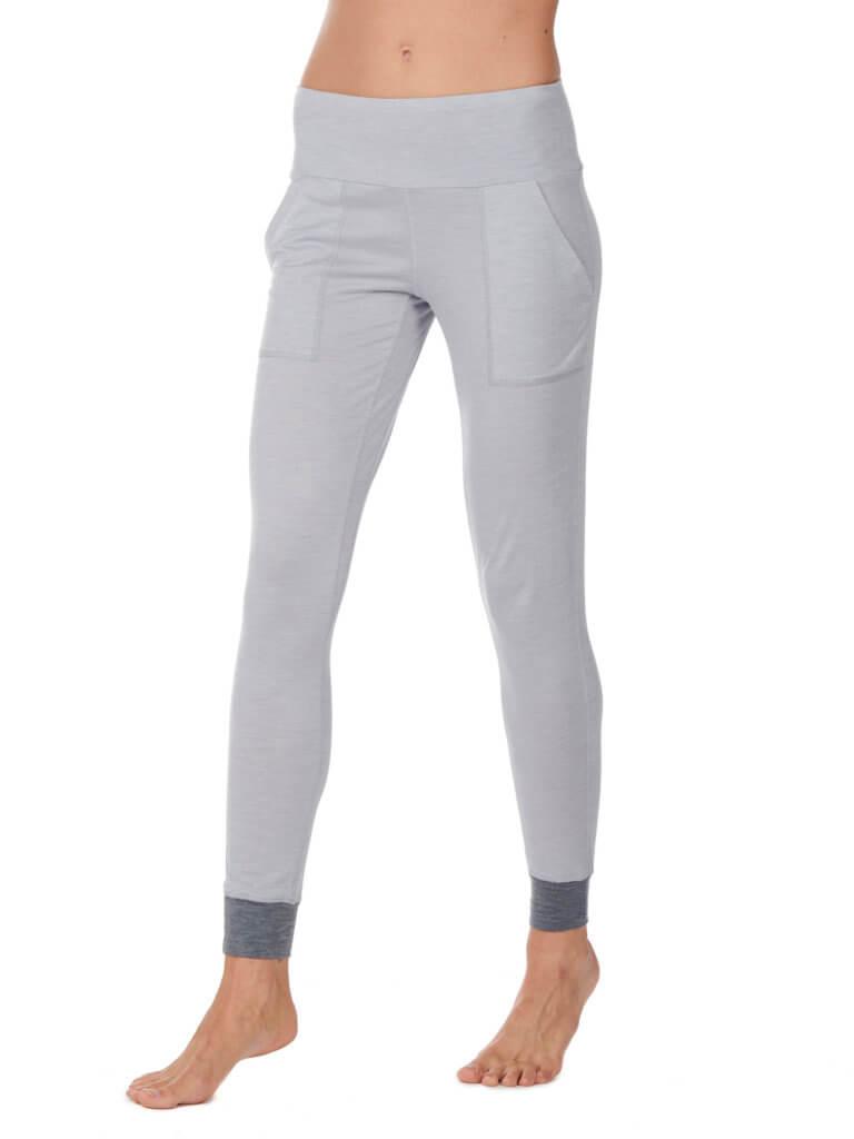Dagsmejan Women's Stay Warm Sleep Pants Light Grey