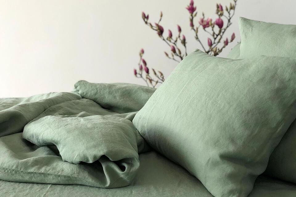 The Linen Company Bettwäsche Classic Salbei
