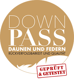 Logo Down Pass Rückverfolgbare Daunen