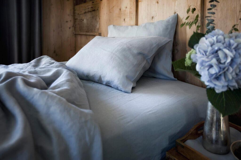 The Linen Company Bettwäsche Classic Blau